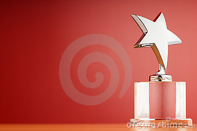 Star award on the gradient background