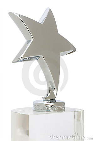 Star award isolated on the white