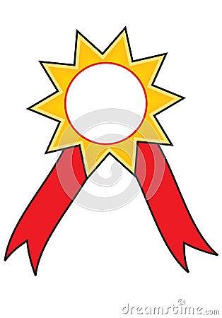 Star award ribbon  badge
