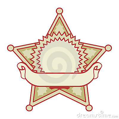 Star badge with a banner