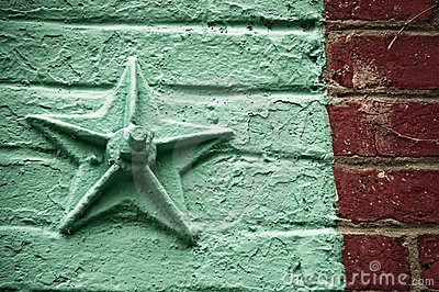 Star on Brick Wall