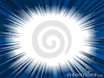 Star burst background frame