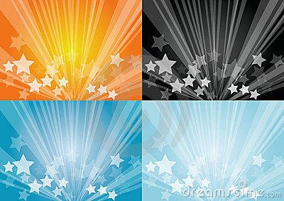 Star burst backgrounds