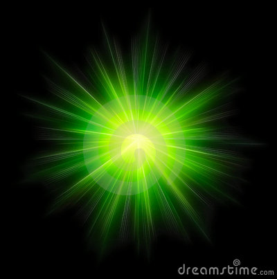 Free Star Burst Green Stock Image - 6237801