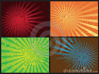 Star burst grunge retro vector