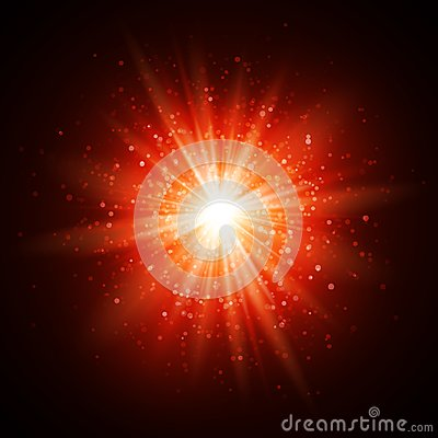Free Star Burst With Sparkles. Light Effect. Red Glitter Texture Royalty Free Stock Images - 106883909