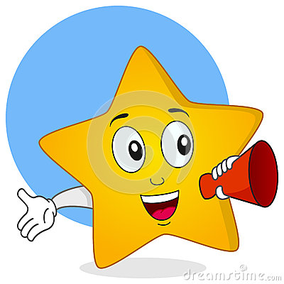 Star Character Holding a Megaphone