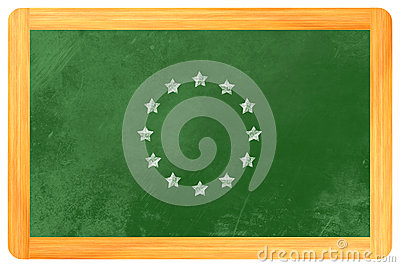 Star circle european flag
