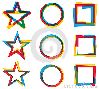 Star Circle Square Logo Set