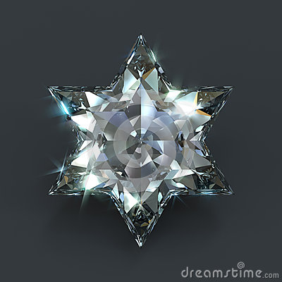 star of david diamond stock illustration image 54865148