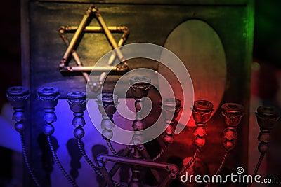 Star of David and Menorah