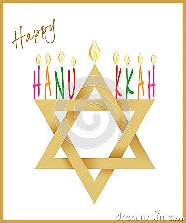 Star of David and Menorah for Hanukkah