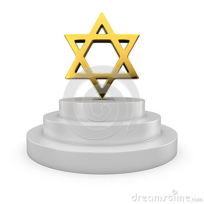 Star of David on the podium
