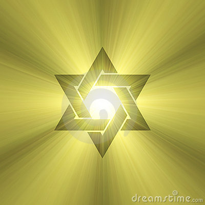 Star of David sun light flare