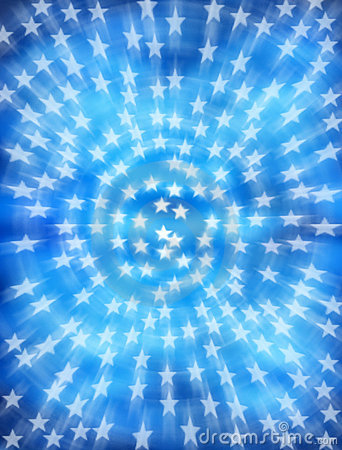 Star Stars Blue Background