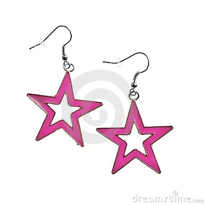Star Earrings Stock Photos - Image: 18090583