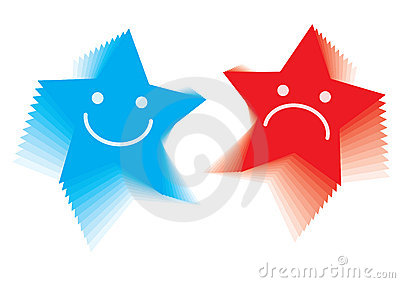 Star emotion smileys - vector