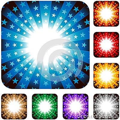 Star explosion background