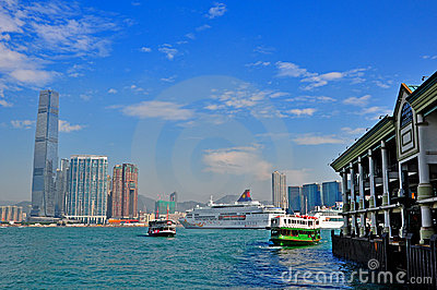 Star ferry and luxury cruises in hong kong Editorial Image