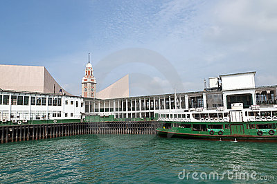 Star Ferry Pier, Victoria Harbour - Kowloon Editorial Image
