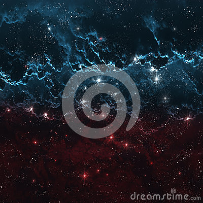 Star field in deep space many light years far from