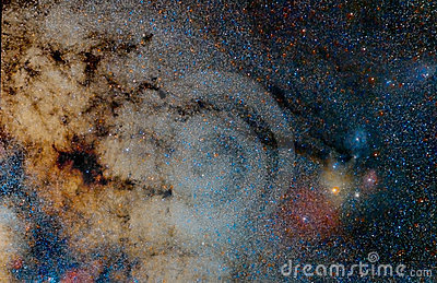 Star field and nebulae