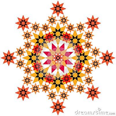 Star filigree orange