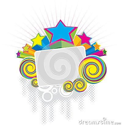 Star Frame Cartoon Vector   CartoonDealer.com #6601609
