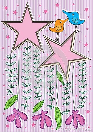 Bird Star Frame Card_eps