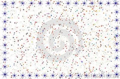 Star frame white background