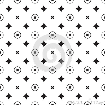 Free Star Geometric Pattern. Seamless Vector Stock Images - 95537904