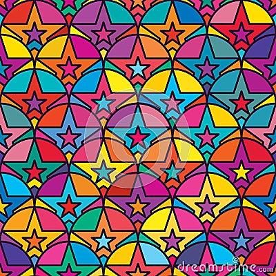 Free Star Half Circle Symmetry Seamless Pattern Royalty Free Stock Photo - 70435015