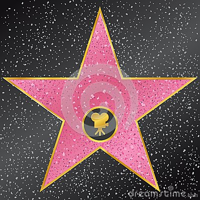 Free Star. Hollywood Walk Of Fame Stock Photos - 39349303