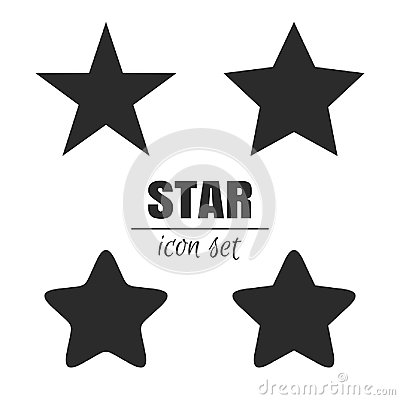 Star icon set Vector Illustration