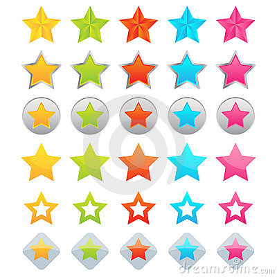 Free Star Icons Stock Photo - 20266570