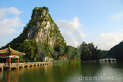 The Star Lake 4(in Zhaoqing,China) Stock Photos - Image: 4505403