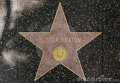The star of legendar comedian actor Buster Keaton Editorial Photography