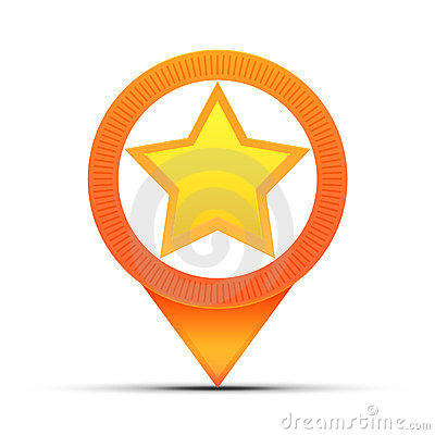 Star location map pin