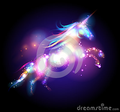 Free Star Magic Unicorn Logo. Stock Photos - 58475063