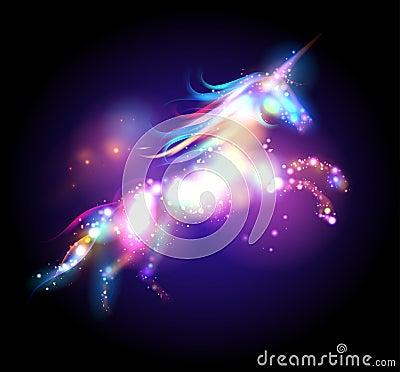 Star magic unicorn logo. Vector Illustration
