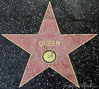 The star of the music group Queenn Editorial Stock Photo