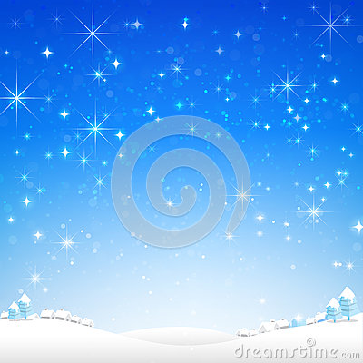 Free Star Night And Snow Fall Bakcground Vector Illustration 002 Royalty Free Stock Photos - 78104248