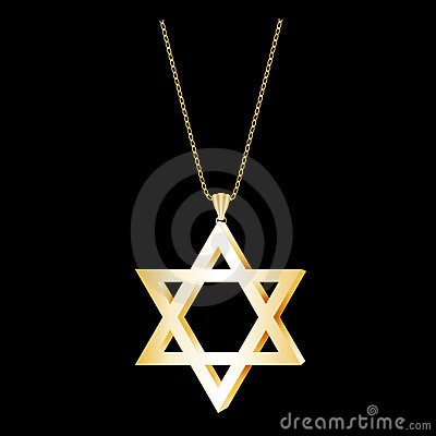 Free Star Of David Gold Pendant Royalty Free Stock Photography - 6284157