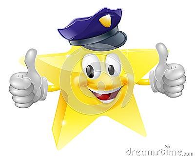 Star policeman cartoon