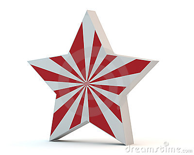 Star with red strips