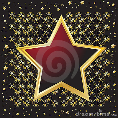 Star Shaped Emblem Shield Stock Photo - Image: 13351180