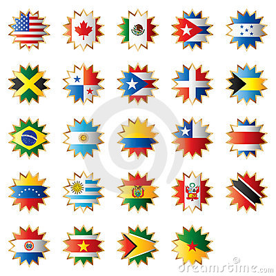 Star shaped flags - America