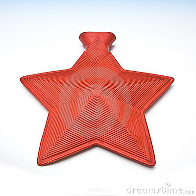 Star shaped hot water bottle