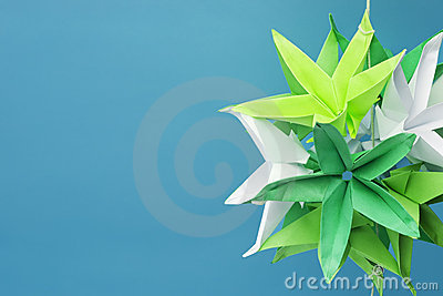 Star shaped origami flowers