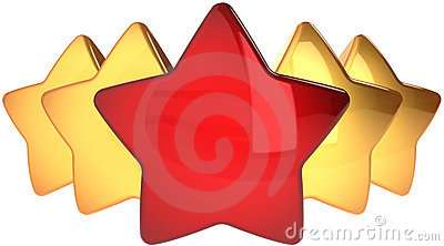 Star shapes leadership concept